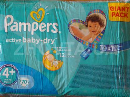 Pampers ActiveBaby-dry #4+ (70 шт.).