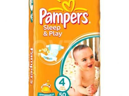 Pampers Sleep&Play #4-50 штук