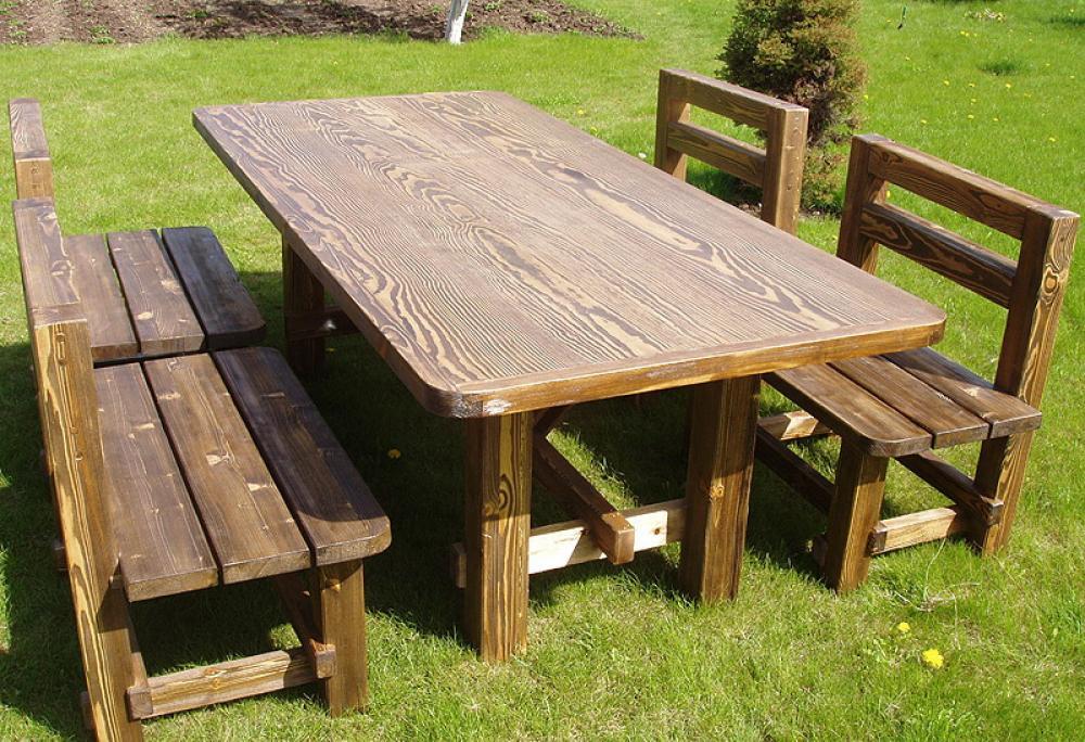 Деревянные столы и лавки для дачи своими руками фото